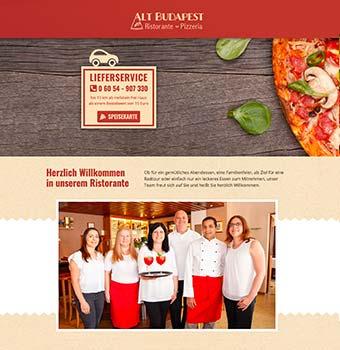 Webdesign Restaurant Alt Budapest