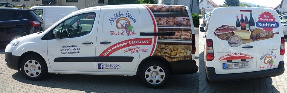 Fahrzeubeschriftung Bäcker