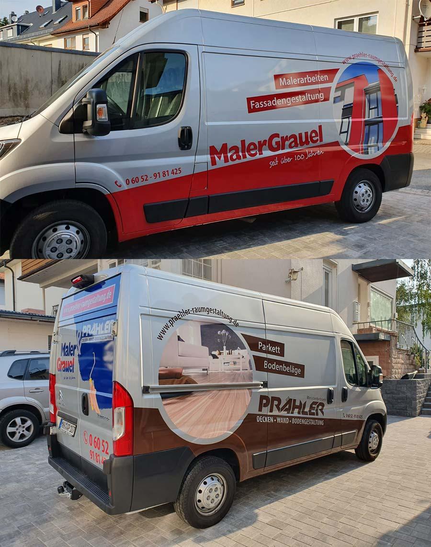 Gestaltung Fahrzeugbeschriftung Maler