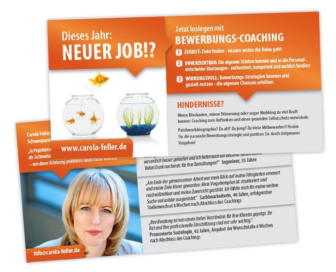 Gestaltung Flyer Bewerbungscoaching