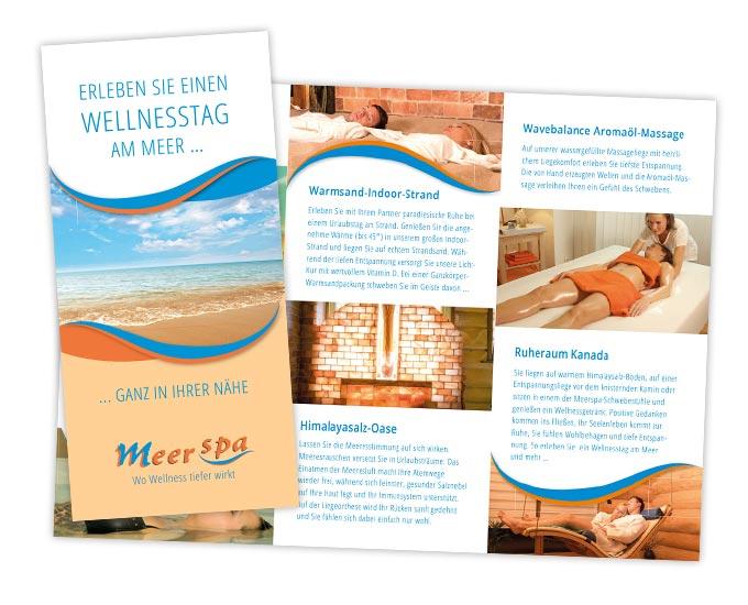 Flyergestaltung Wellness