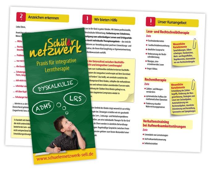 Gestaltung Flyer Lerntherapie