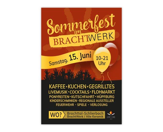 Gestaltung Plakat Sommerfest