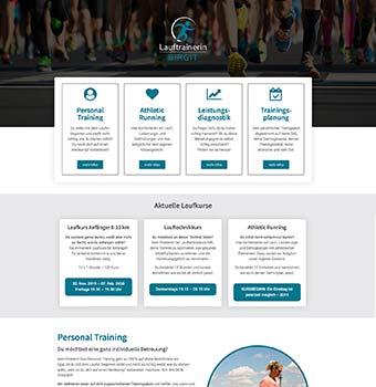 Webdesign Lauftrainerin