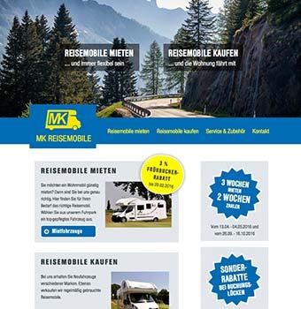 Webdesign Reisemobilverleih