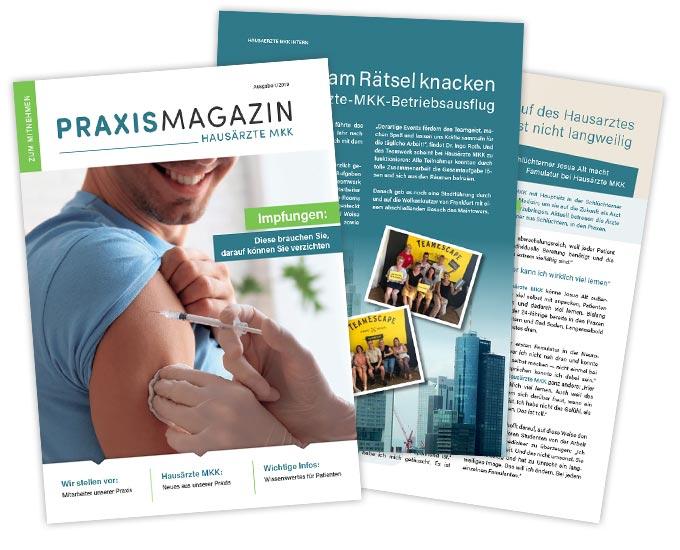 Gestaltung Praxismagazin