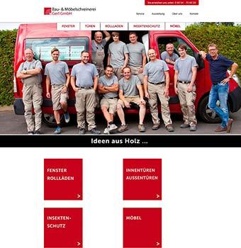 Webdesign Schreinerei