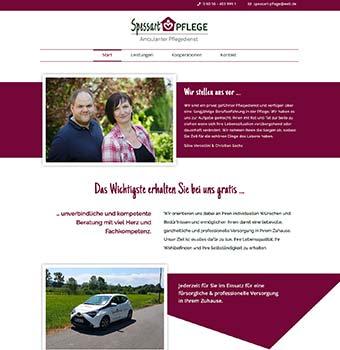 Webdesign Pflegedienst Spessart-Pflege