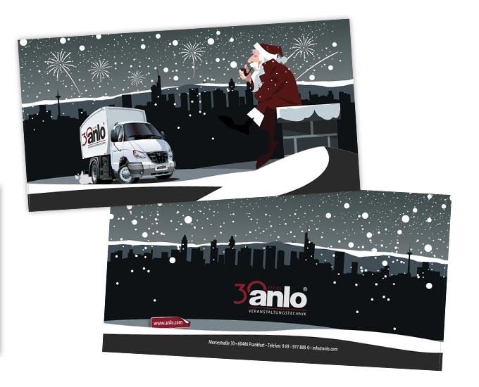 Gestaltung Weihnachtskarte