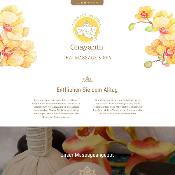 Webdesign Thaimassage
