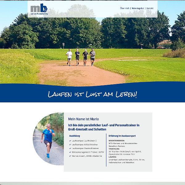 Webdesign Lauftrainer