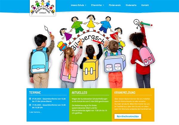 Webdesign Grundschule Bilzbergschule