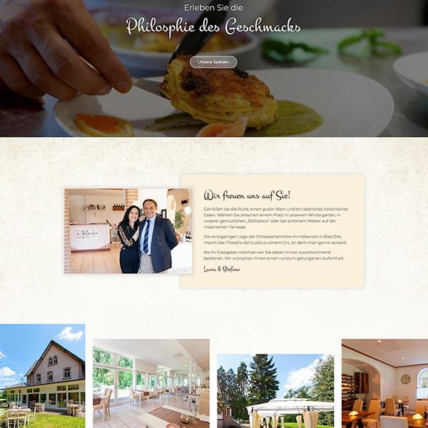 Webdesign italienisches Restaurant