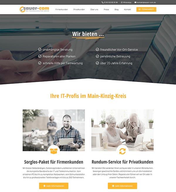 Webdesign PC Dienstleistungen