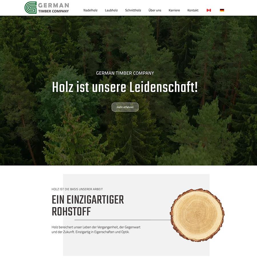 Webdesign Holz