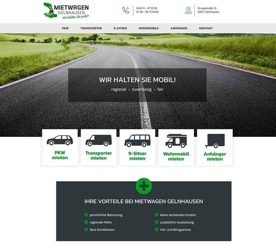 Webdesign Autovermietung Gelnhausen