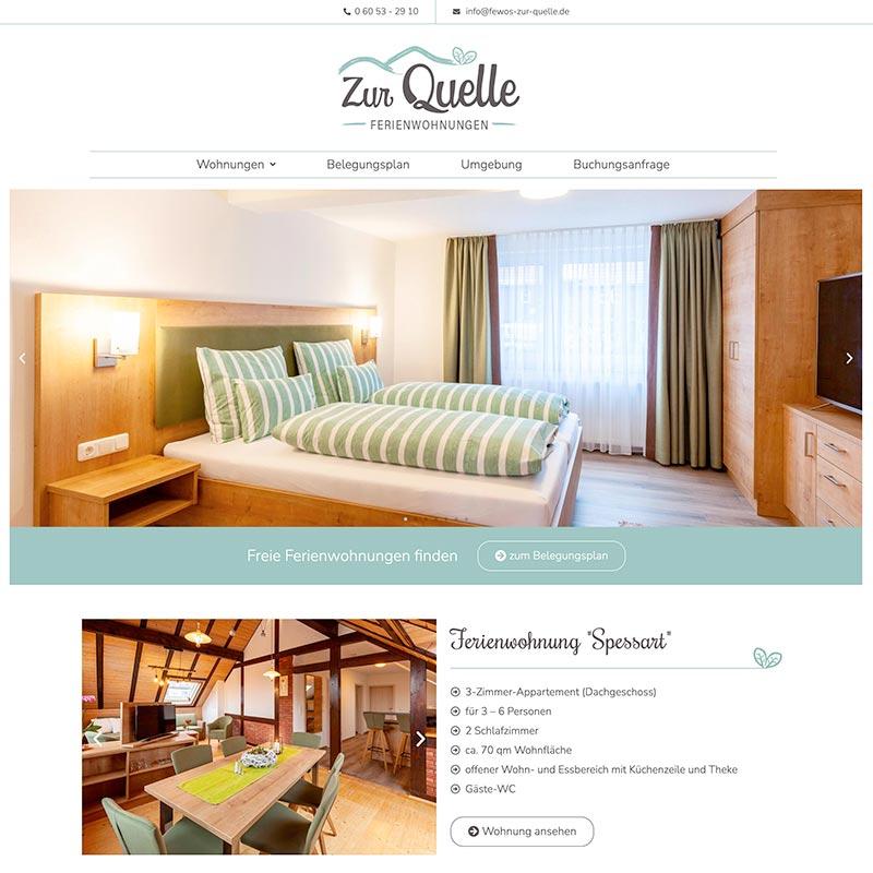 Modernes Webdesign für Ferienwohnungen