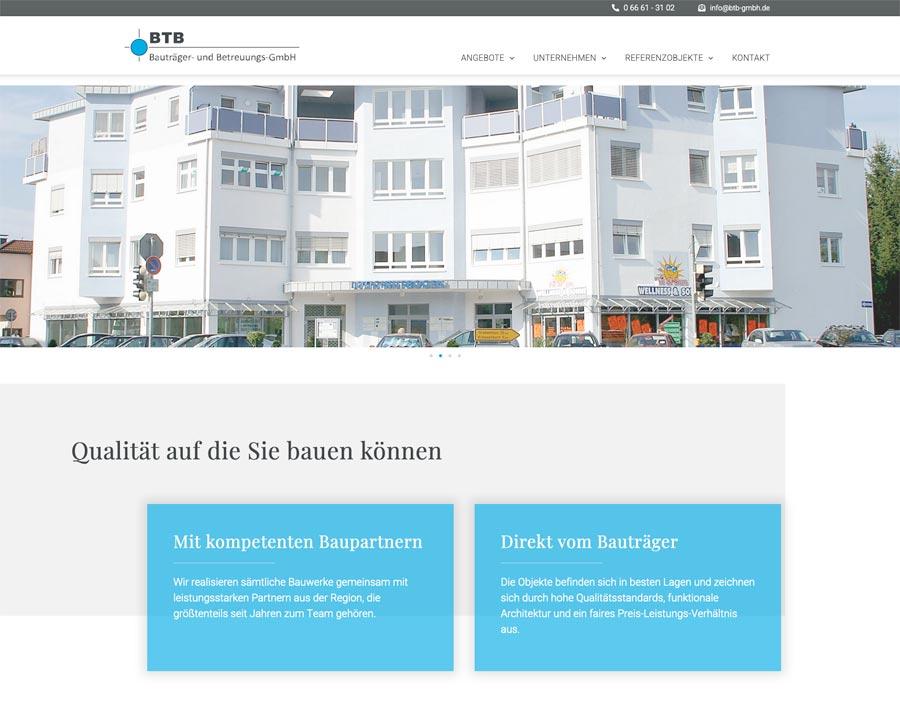 Webdesign Bauträger Schlüchtern